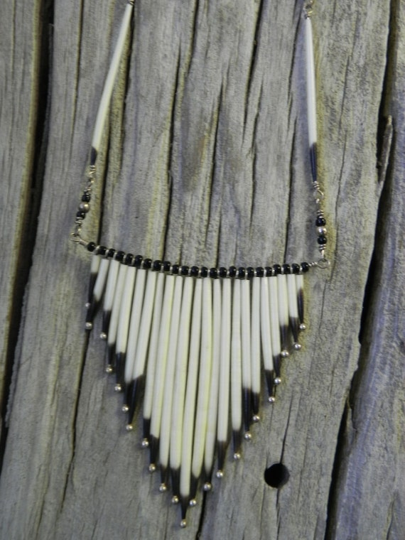 Navajo Porcupine Quill Necklace