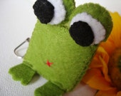 Cubical Zoo - CraCra - Felt Frog Keichain