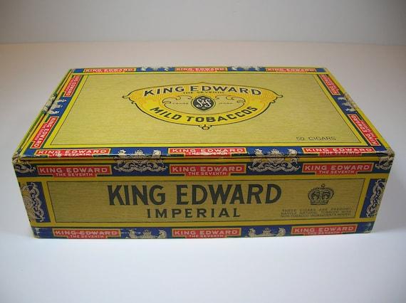 Vintage Cigar Box King Edward Imperial