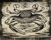 Crab - Original Woodblock Print