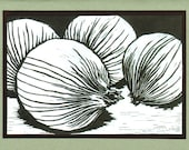 5 Onion Notecards
