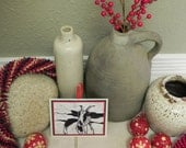 Handmade Goat Linocut Ornament
