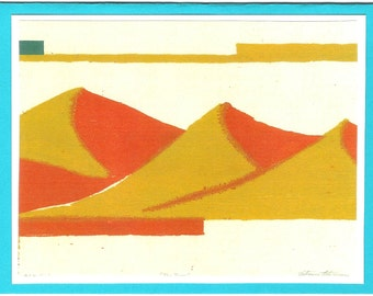 5 Sand Dune Notecards (Turquoise or Sage Green)