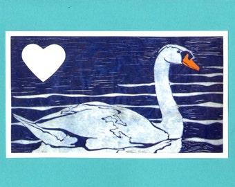 5 Handmade Swan Valentine's Day Cards