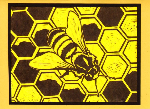 5 Honey Bee Notecards