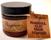 Clarifying and Firming Facial Rhassoul Clay Mask for Acne Prone Dry or Combo Skin
