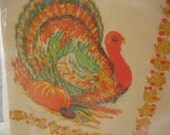 Vintage Thanksgiving Turkey Napkins  Original Packaging Set/16..Altered Art..Collage..Scrapbooking