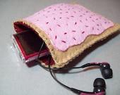 Felt Poptart cozy/pouch (Cherry)- Great cozy for ipods, phones, cameras, etc