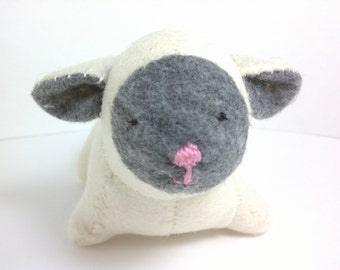 Lamb stuffed animal small