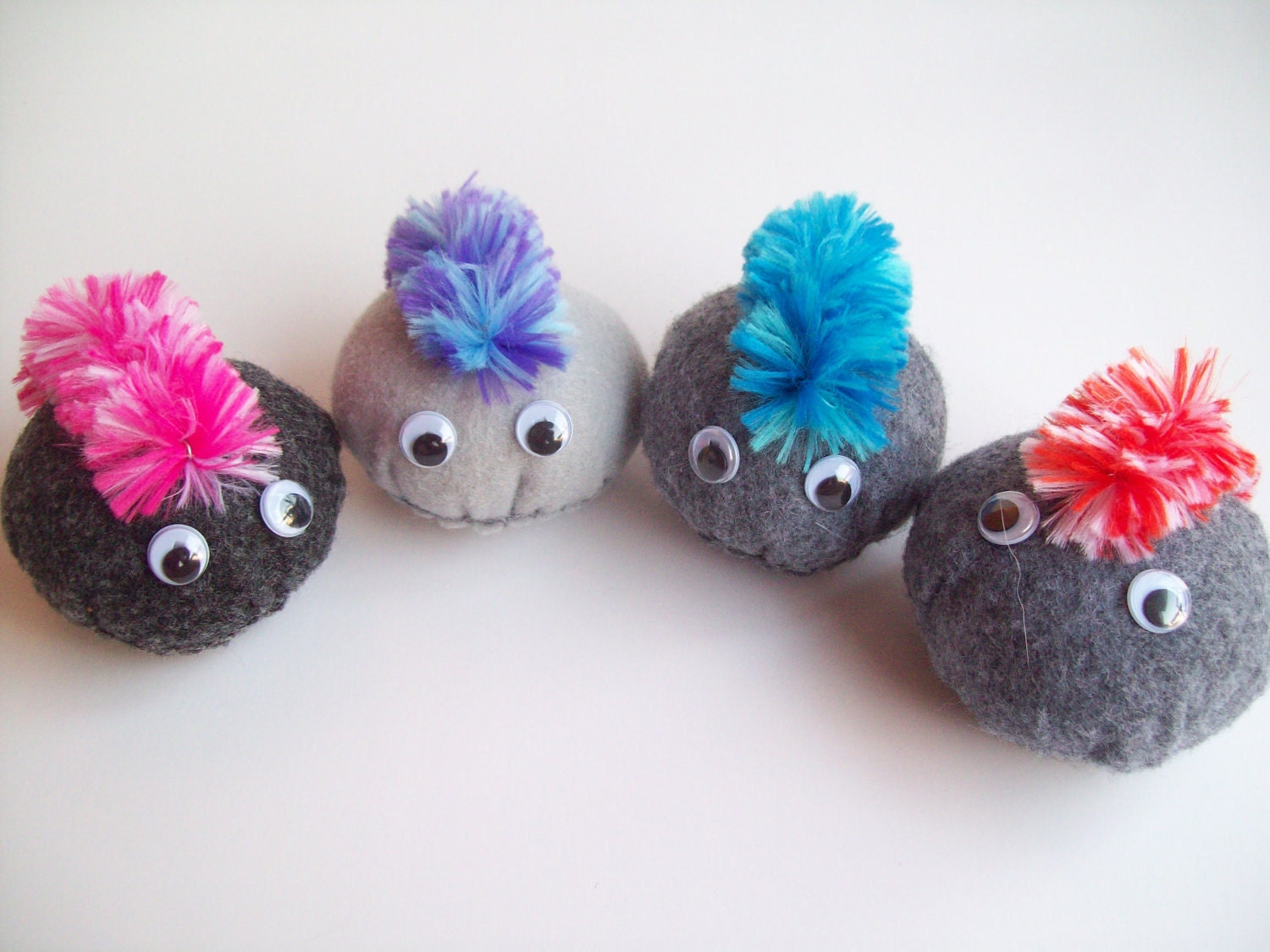 Pet Rock With Mohawk Plush Small You Choose 1