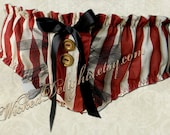 Bloomer Panties - Burgundy Striped Burlesque OOAK
