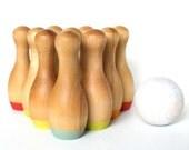 Rainbow Hand-dipped Wooden Skittles