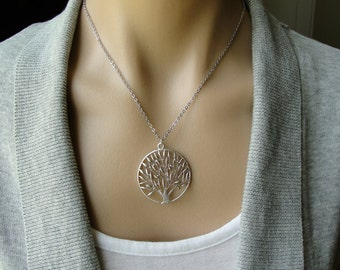 Silver Organic Tree -  gift, Christmas, mother, wife, daughter, sister, bridesmaid, friend, tree of life, engagement, birthday