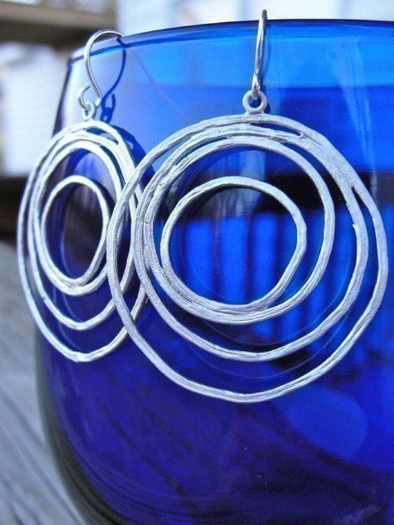 Silver Multi Circle Earrings - mother, gift, birthday, wife, daughter, sister, friend