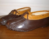 Vintage Duck Shoes Brown and Tan Made in the USA (W 10)