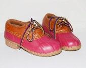 Vintage Land's End Children's Duck Shoes (Size 10)