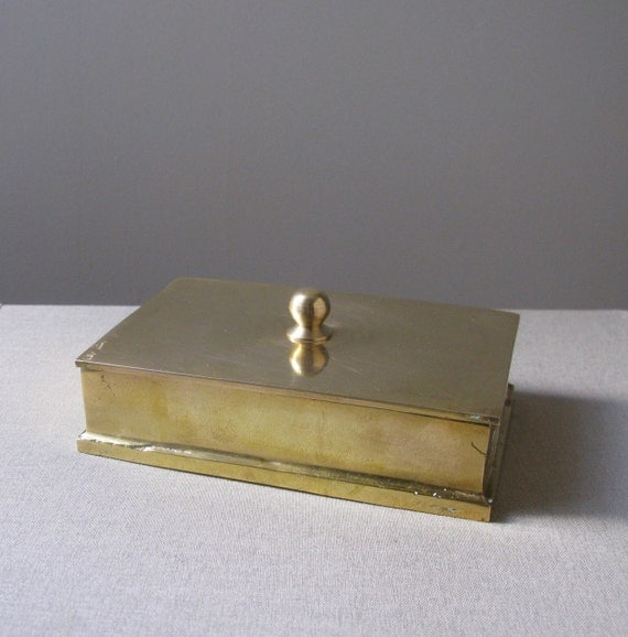 Vintage Brass Box With Lid