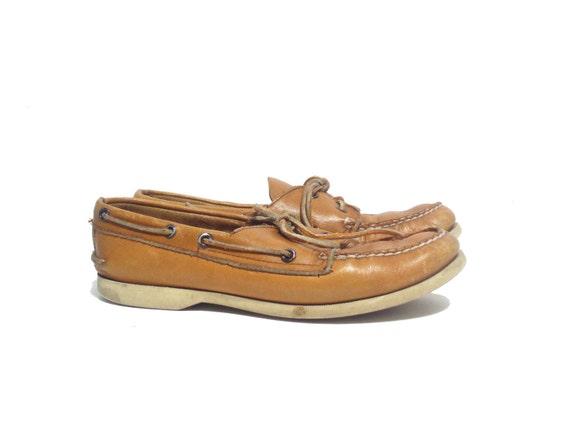 Size 8 Brown Leather Sperry Boat Shoes