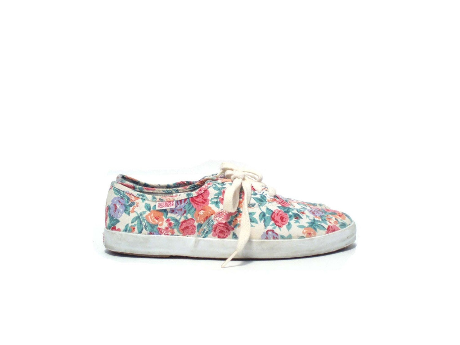 Size 8 5 Floral Print Tennis Shoes Sneakers By