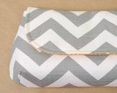 Clutch- Gray Chevron and Modern Yellow- Ready to Ship