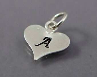 Personalized Heart Monogram Initial Charm - Made to Order in Any Letter