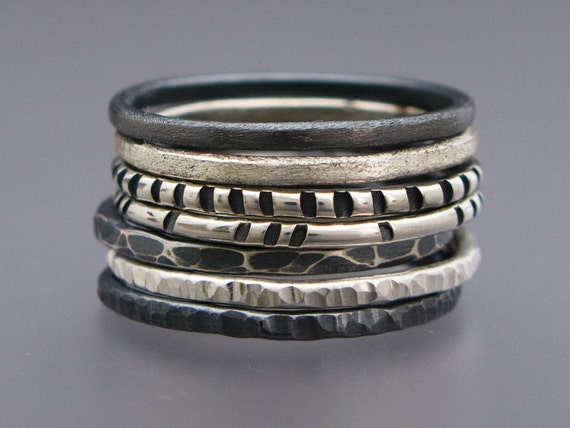 Skinny Stacking Ring in Sterling Silver - Pick any one ring