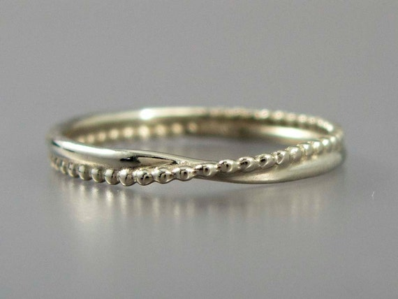 White Gold Wave Ring -  also in yellow or rose gold by request