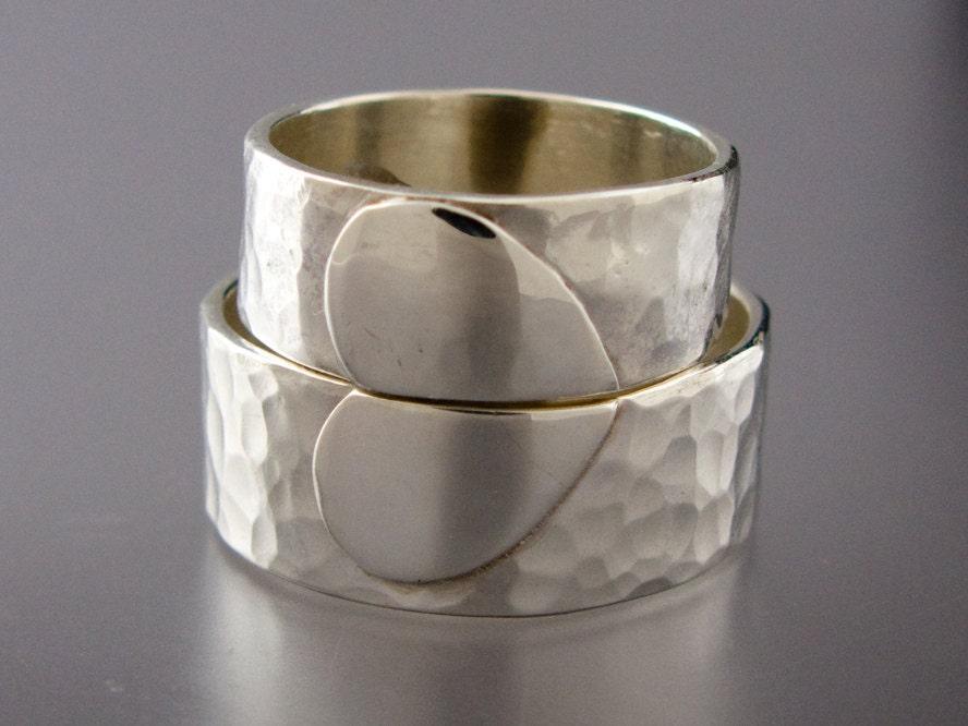 e56325b609 custom engraving heart shape stainless steel 2 pcs couples ring set ...