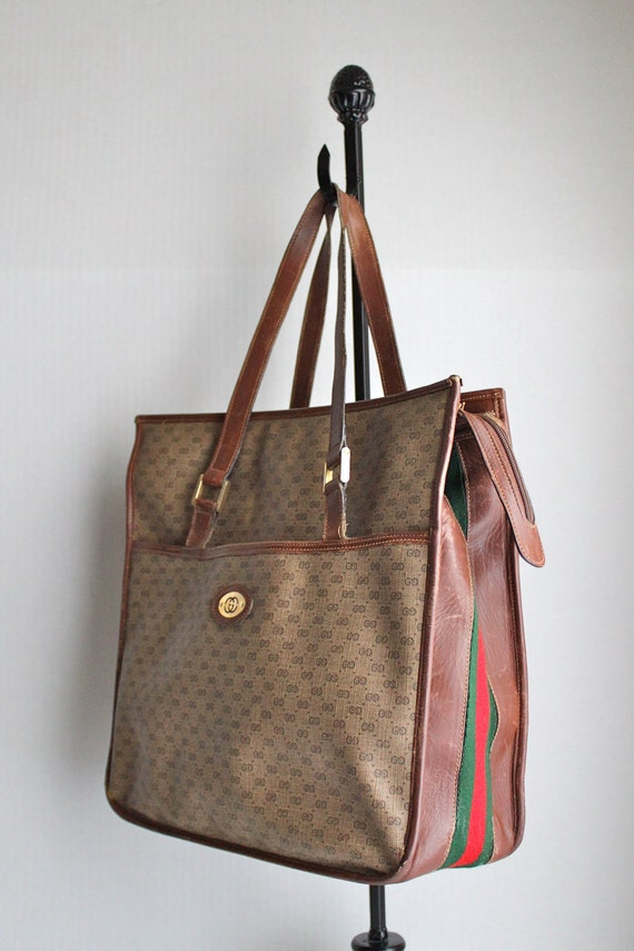 iconic 70s GUCCI shopper tote