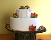 """10"""" inch Rustic wood Cake Stand- READY TO SHIP"""