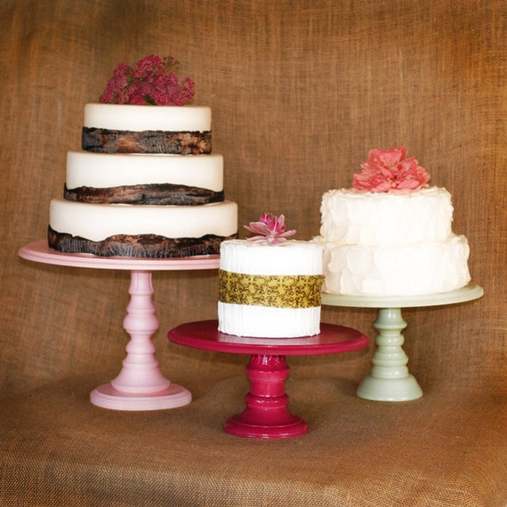 Pedestal Serving Cake Stands Set Of 3 Any Color