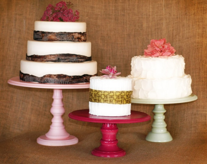 Pedestal Serving Cake Stands - Set of 3 - Any color