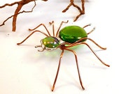 Handmade Large Green Spider Buster B