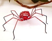 Red Spiders Two Handmade Copper Wire Art Perfect Gift for Entomologists and Bug Lovers