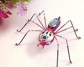 Colorful Handmade Spider Medium in Pink and Purple