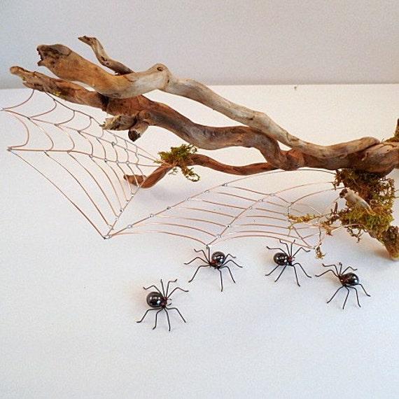 Reserved for Byrdidy Driftwood Spider Web