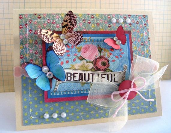 beautiful    handmade greeting card