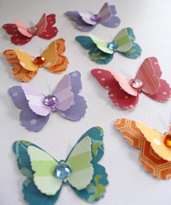 handmade butterfly embellishments scrapbooking