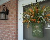 SALE,Wall pocket,Wreath,Floral arrangement,Spring or Summer Decoration,Coneflower,Daisies,Grasses,Mothers day