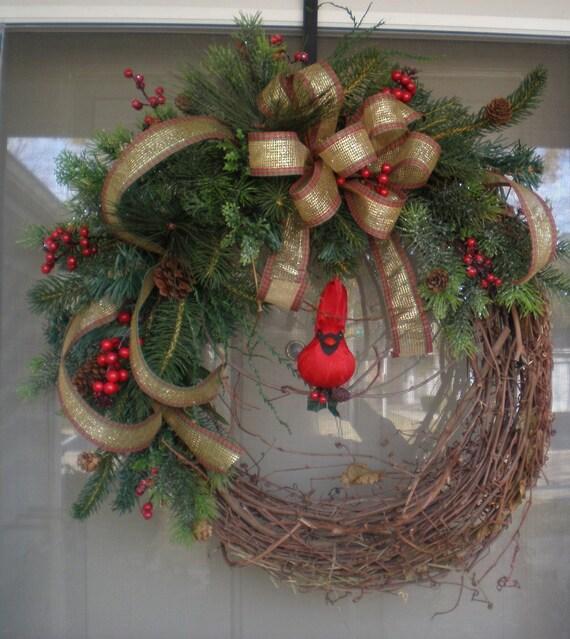 front door wreathwinter wreathwreathholiday wreathoutdoor. Black Bedroom Furniture Sets. Home Design Ideas