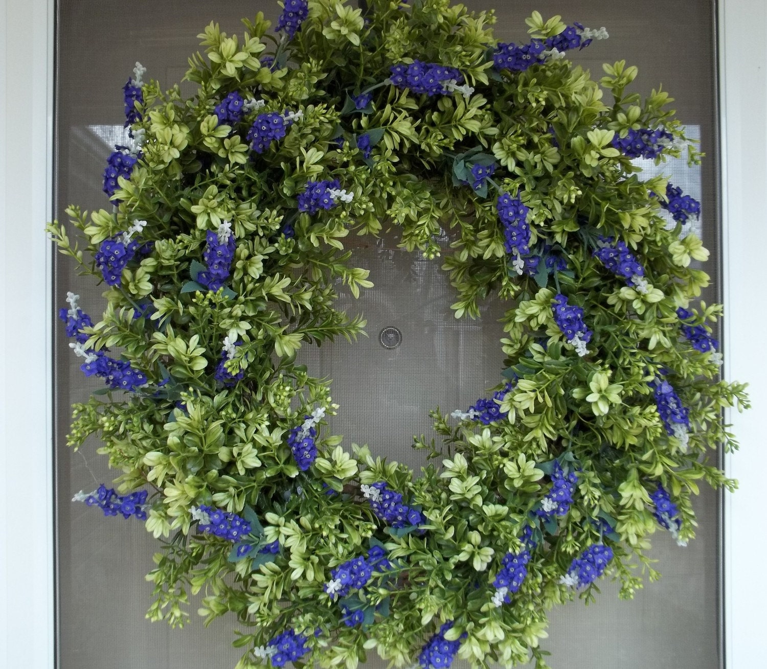 door wreath front door wreathlavender wreathspring