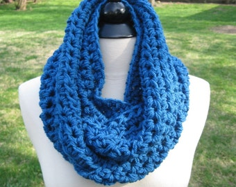 Cowl Circle in SAPPHIRE / Scarf, Neckwarmer, Wrap / Fall Winter Scarves GIFT Cowl Thermal Infinity / Circle Wrap Scarf Cowl / Chunky Cowl