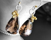 Melange Earrings - Smoky Quartz