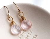 Patisserie Earrings - Rose Quartz