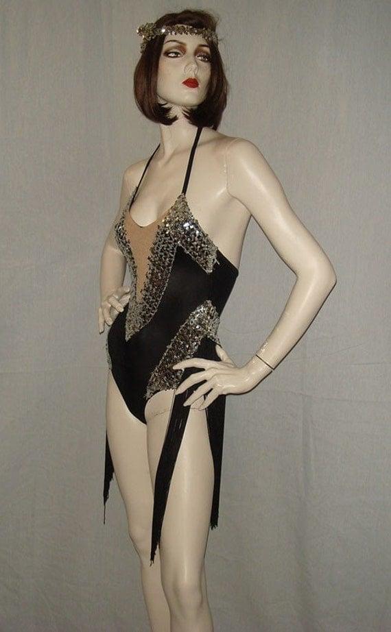 reservedvintage burlesque sequined flapper fringe