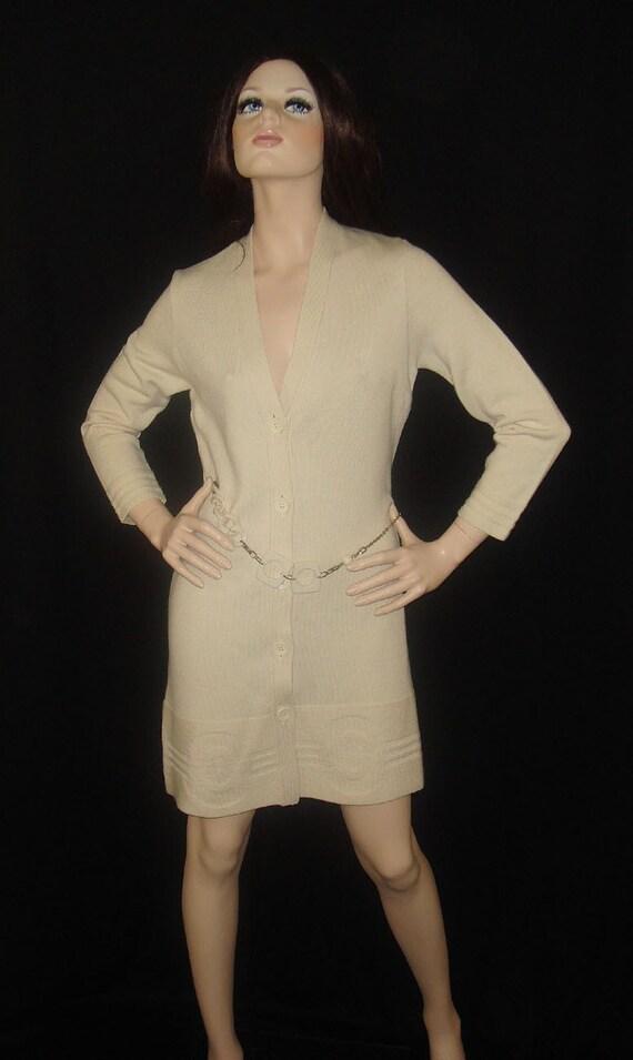 Vintage 60s 70s Pierre Cardin Sweater Dress