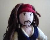 Captain Jack Sparrow doll knitting pattern