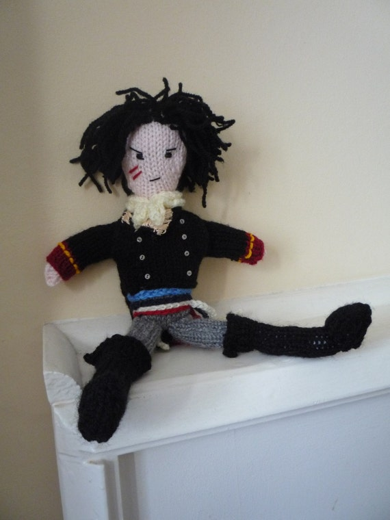 Adam Ant Prince Charming knitted doll