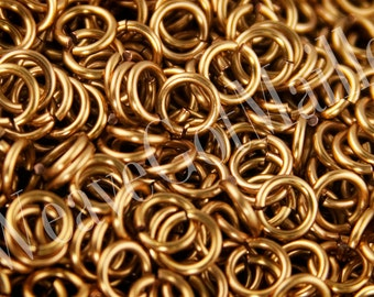 Jumprings 16 gauge 4.5mm ID Bronze Colored Enameled Copper Jumprings, 1 oz, approximately 145 jump rings