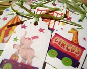 Vintage Circus Animals Hang Tags, Set of 12 Gift Tags